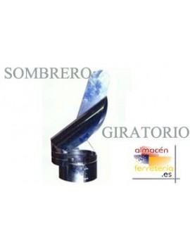 SOMBRERO ESTUFA GIRATORIO GALV. 125MM.