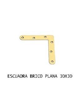 ESCUADRA PLANA 30 X 30 BC.
