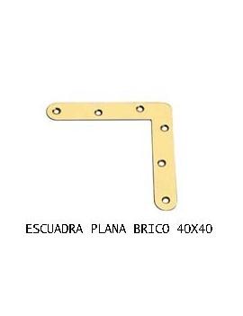 ESCUADRA PLANA 40 X 40 BC.