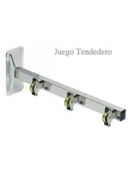 TENDEDERO MURAL 3 POLEAS INOX