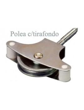 POLEA TENDER C/TIRAF. 40 METALICO