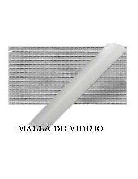 MALLA FIBRA DE VIDRIO GRIS 0.6X30